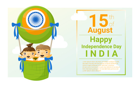 august: Happy independence day India 15th of August , vector, illustration Illustration