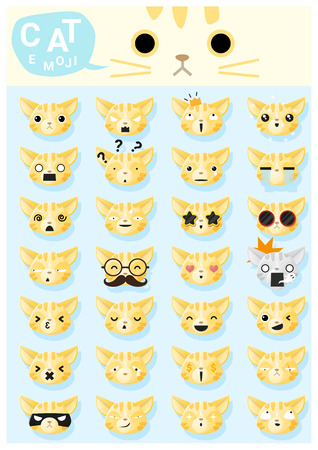 moggy: Cat emoji icons , vector , illustration