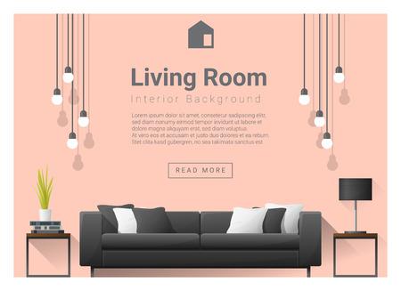 modern living room: Modern living room Interior background , vector, illustration