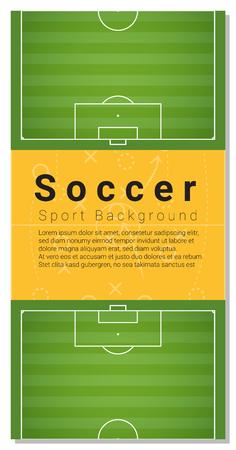 graphic illustration: Football field graphic background , illustration