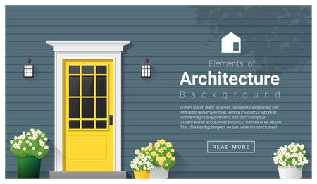Elements of architecture , front door background , vector ,illustration