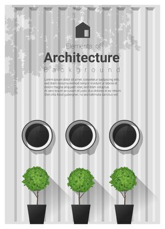architecture: Elements of architecture. Illustration