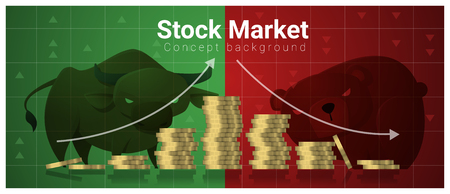 decline in values: Business and Finance concept background with stock market , vector , illustration