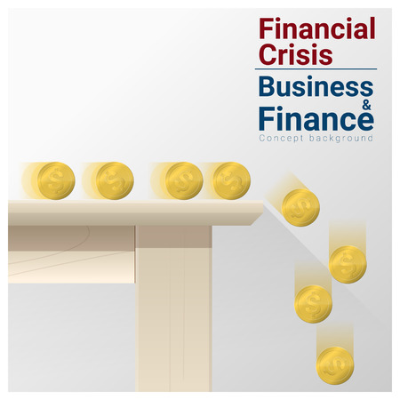 bankrupt: Business and Finance concept background with financial crisis , vector , illustration