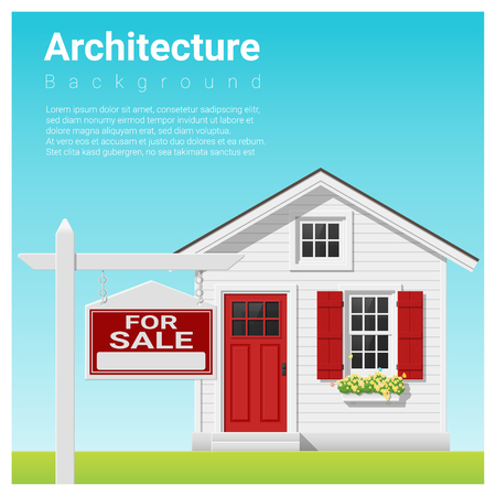 Real estate investment background with house for sale , vector , illustration. Illustration