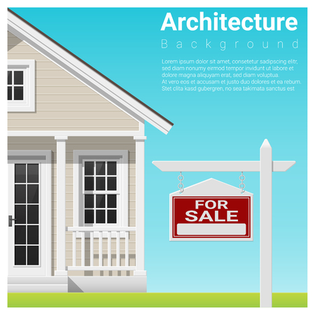 Real estate investment background with house for sale , vector , illustration