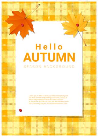 Blank poster on autumn.