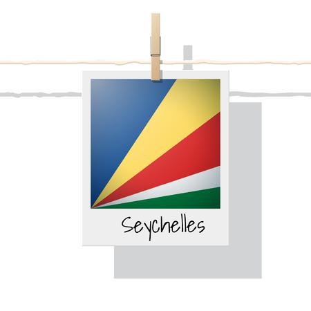 セーシェルフラグアイコン。  イラスト・ベクター素材