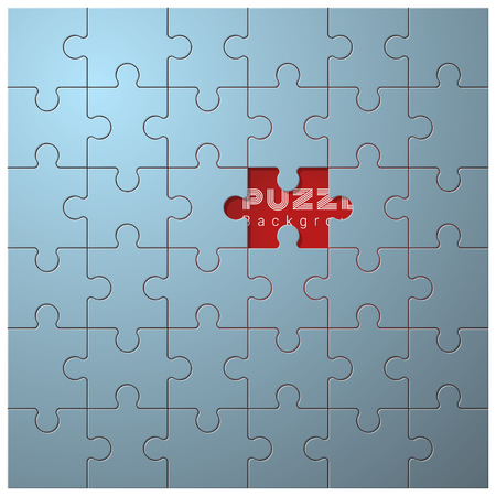 Abstract conceptual background with incomplete jigsaw puzzle , vector , illustration Illustration