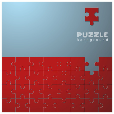 Abstract conceptual background with incomplete jigsaw puzzle  vector  illustration
