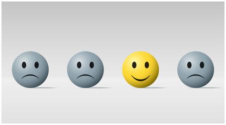 Smiley balls vector illustration set