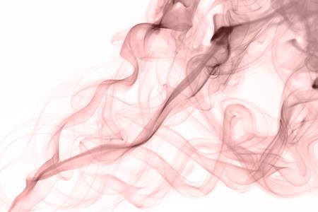 quartz: rose quartz color smoke on white background