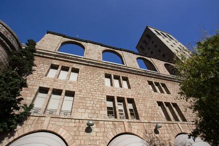virgin of montserrat: BARCELONA, SPAIN - OCTOBER 30, 2015: View of building at Montserrat Monastery, Spain