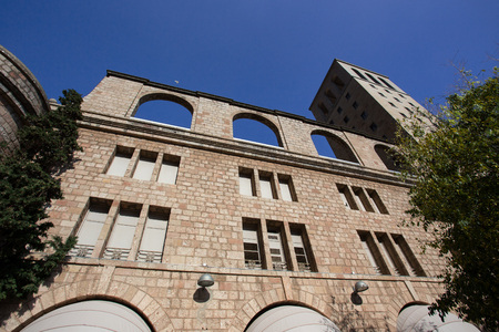 BARCELONA, SPAIN - OCTOBER 30, 2015: View of building at Montserrat Monastery, Spain