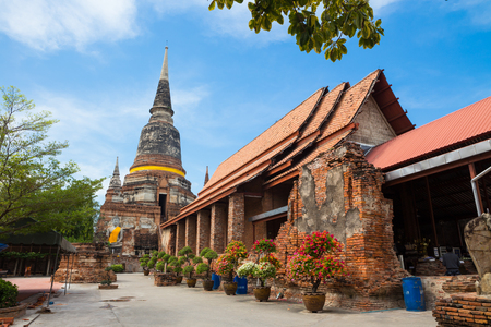 Wat Yai Chai Monkol at Ayutthaya, Historical temple in Thailand