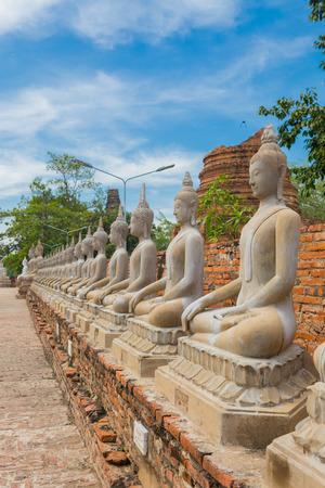 Buddha statue at Wat Yai Chai Mongkol, Ayutthaya, Thailand.