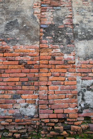 orange old bricks background