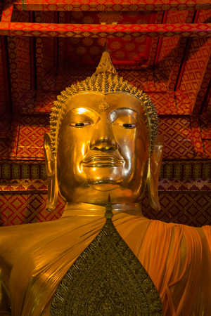 Golden buddha in Wat Phanan Choeng temple,Thailand