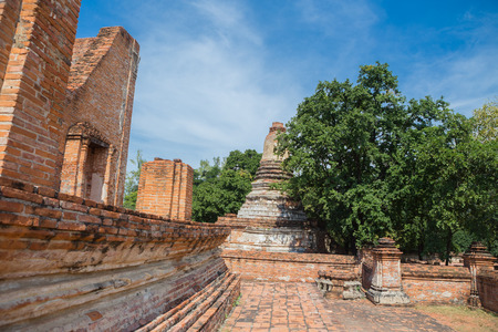 Wat Maheyong, Old temple at Ayutthaya, Thailand