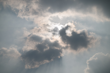 Golden heaven light,light of sky and cloud. Banque d'images