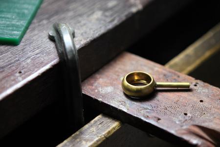 ring after casting Фото со стока