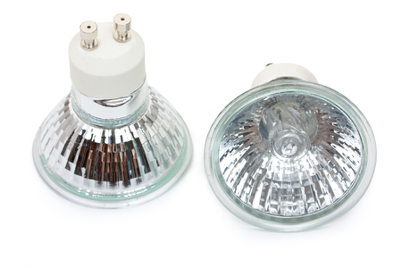 halogen: Pair of halogen bulbs with gu10 sockets