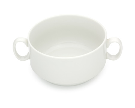 tureen: Porcelain soup bowl, tureen isolated on a white background