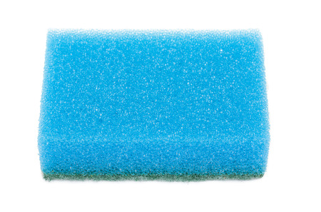 purge: Sponge for washing and cleaning of kitchen ware isolated on a white
