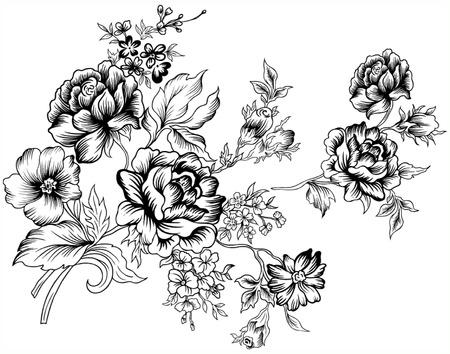 Flores de línea. Foto de archivo - 31956757