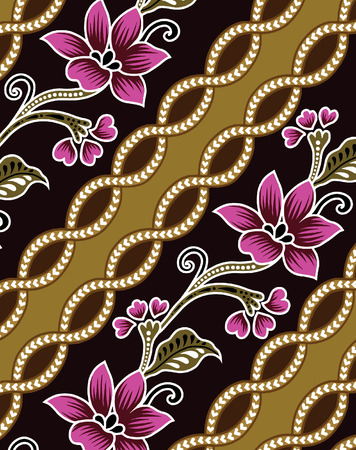 design of flowers for the fabric. Vector