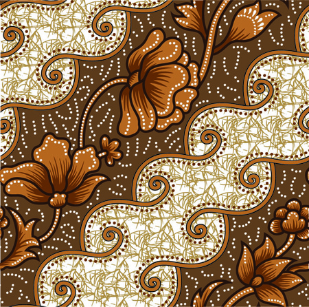 textile image: design patterns, flowing, curvilinear forms and artistic visionary gardens.