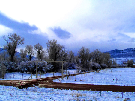 winter day: Ranch on a winter day