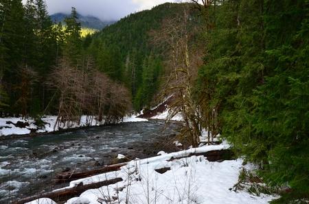 river in the mountains Banco de Imagens