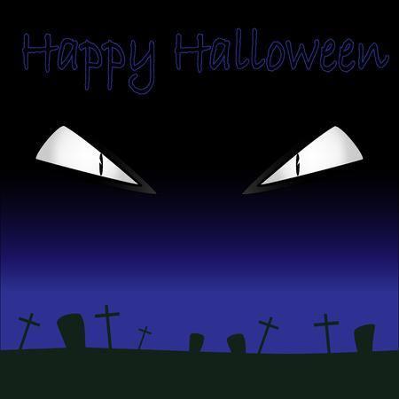 eyes fear halloween cemetery