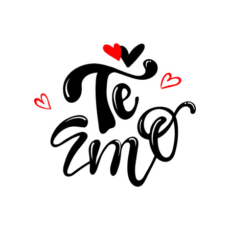 Te amo translated from spanish i love you hand lettering Ilustração