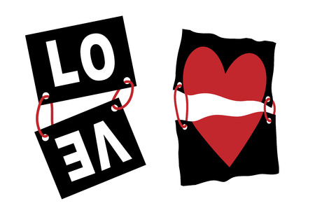 Love slogan vector print. For t-shirt or other uses,T-shirt graphics / textile graphic Vector Illustration