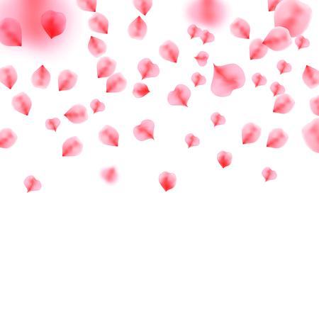 Background with rose petals. Flower petals. Sakura petals. Happy Valentines Day! Valentines day background. Illustration