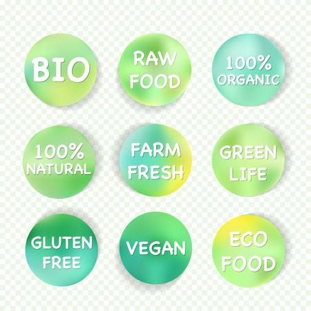 Vector green eco symbol for vegetarian banner