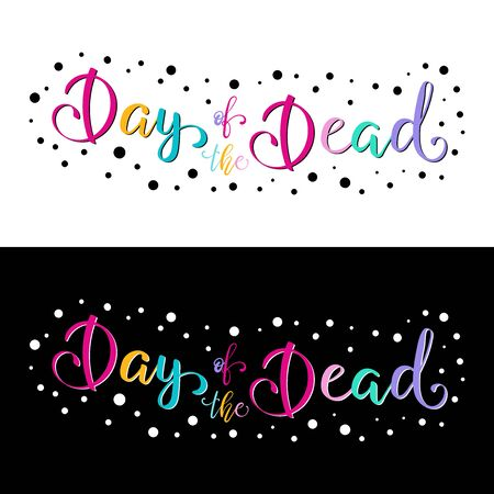 Day of the Dead lettering vector illustration.