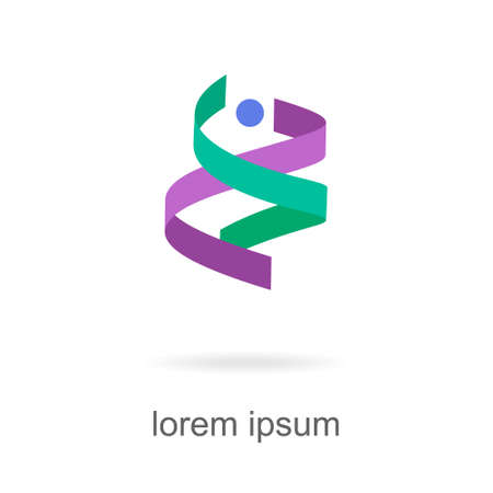 Trendy abstract vibrant and colorful icon, element logo. 向量圖像