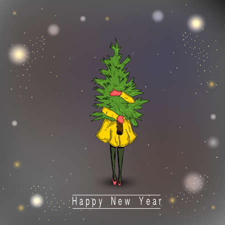 Christmas and New Year banner, poster. 向量圖像