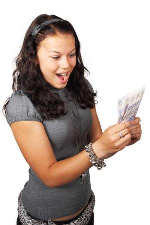 pounds money: la joven sorprendi� recibido libras esterlinas