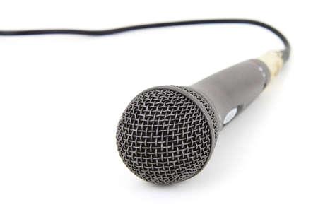 Microphones de studio isol�es sur fond blanc Banque d'images