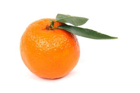 clementine fruit: Single clementine fruit isolated on white background