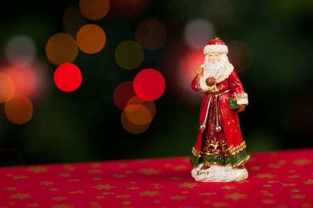 'saint nicholas': Saint Nicholas with blurred lights in the background