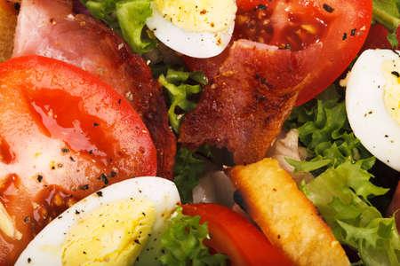 composed: closeup of fresh composed salad