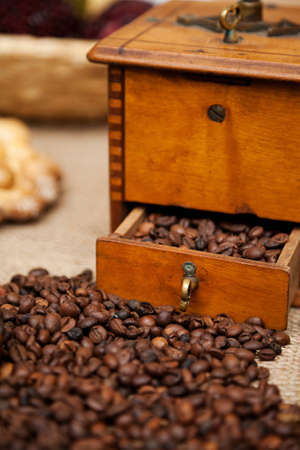 traditional manual coffee grinder Stock Photo