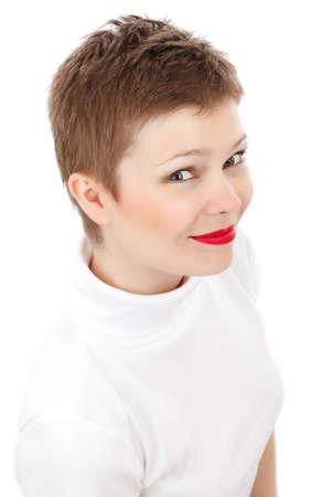femme �l�gante isol�e sur fond blanc - Jana Svojsova