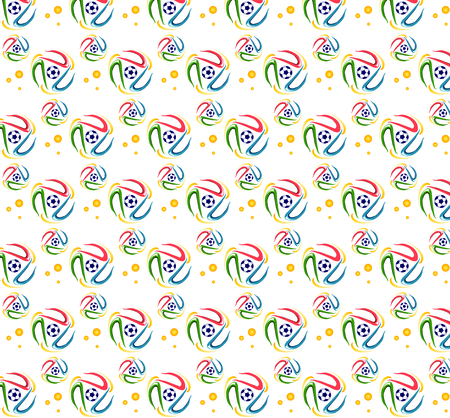 Football pattern with colorful curve circle shape Stok Fotoğraf - 29464933