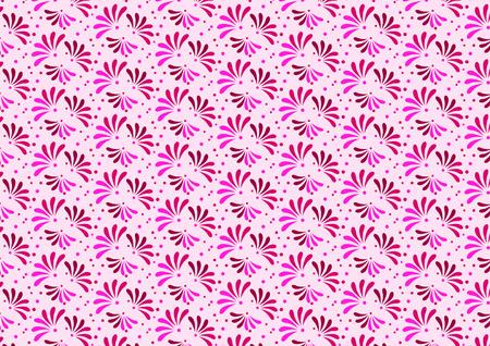 pink flower: Pink flower bloom pattern vector  Illustration
